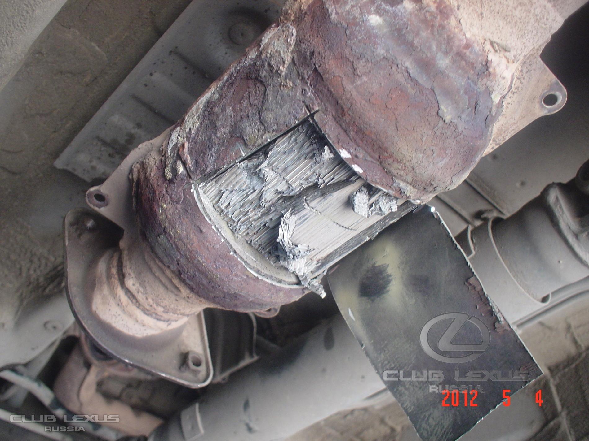 последствия пробивки катализатора на форд мондео3 автомобиле #1